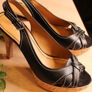 Cute Nine West Black/Brown Heels